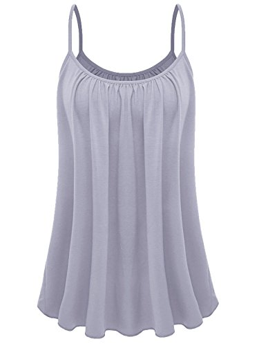 7th Element Womens Plus Size Cami Basic Camisole Tank Top (Gray,3XL)