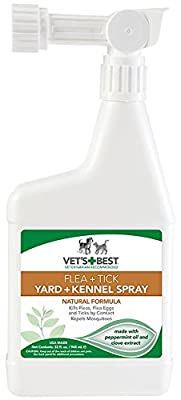 Vet's Best Natural Flea and Tick Yard & Kennel Spray, 32 oz from Bramton Company
