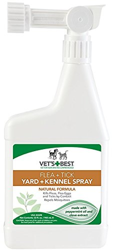 Vet's Best Natural Flea and Tick Yard & Kennel Spray, 32 oz