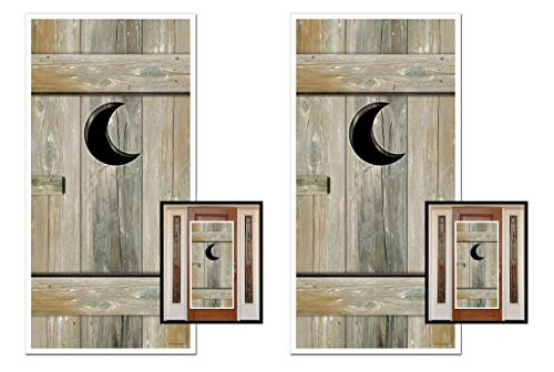 (Beistle S57126AZ2 Outhouse Door Covers 2 Piece, 30