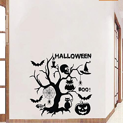 s - Halloween Decoration Wallpaper Stickers Vintage Home Decor Living Room 3d Dragon Pumpkin Muursticker - Educational Hang Live Decals Exercise Family Running Wall Orange Stickers C -