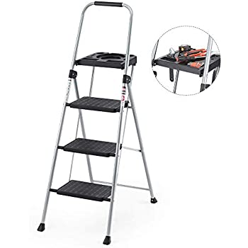 Three Step Utility Stool With Utility Tray Buffalo Tools