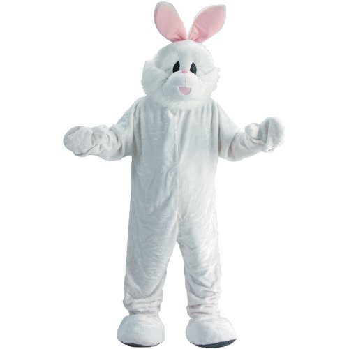 Dress Up America Men's Easter Bunny Mascot, White, Adult ()