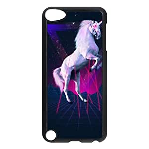 iPod Touch 5 Case Black The last laser unicorn EUA15963443 Cover On Cell Phone Cases