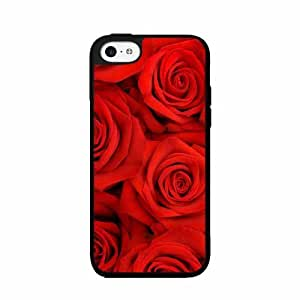 Pretty Red Roses - Phone Case Back Cover (iPhone 5/5s - TPU Rubber Silicone)