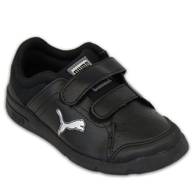 boys black puma trainers