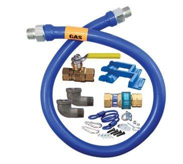 Dormont Manufacturing 1650KIT48PS Dormont Blue Hose Moveable Gas Connector (Dormont Gas Connector Kit)