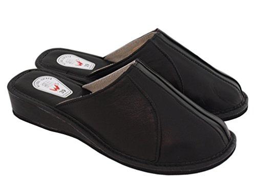 Pantoufles Pantoufles Natleat Des Femmes Des 33 - Mulets Pantoufles Peau Maison Noire Femme Brune / 2 YJqLyl550W