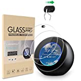 LANMU Screen Protector Webcam Cover for Echo Spot,Tempered Glass Screen Protector for Echo Spot with Camera Cover,Echo Spot Accessories (2 Pack)
