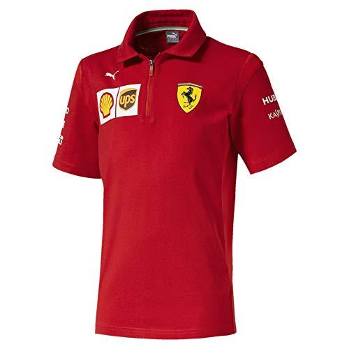 (Ferrari Scuderia F1 2019 Kids Team Polo (15-16 Years) Red)