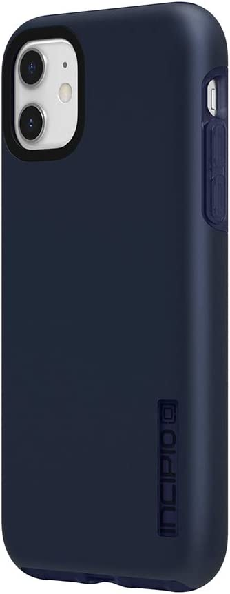 Incipio DualPro Dual Layer Case for Apple iPhone 11 with Flexible Shock-Absorbing Drop-Protection - Iridescent Midnight Blue