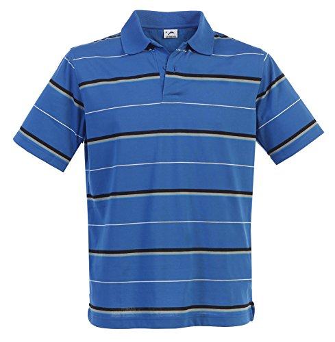 Gioberti Mens Modern Fit Striped Short Sleeve Polo Shirt, Royal Blue, Size XL