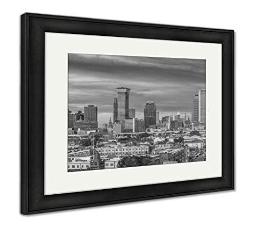 - Ashley Framed Prints New Orleans, Louisiana, USA Skyline, Wall Art Home Decoration, Black/White, 34x40 (Frame Size), Black Frame, AG32911946