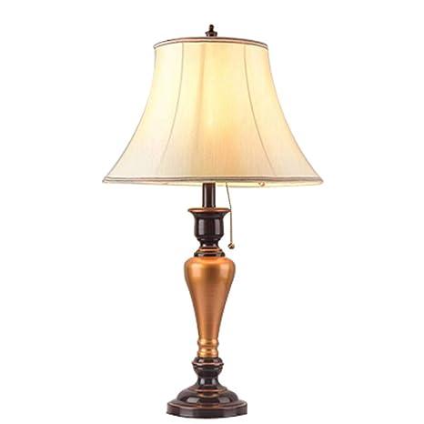 lixin Lámpara de Mesa de Hierro Forjado Dormitorio ...