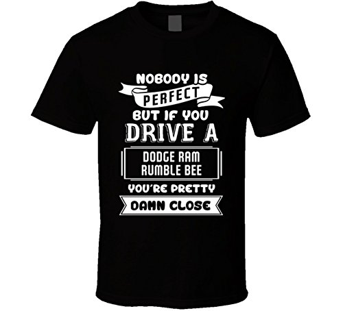 - Nobody is Perfect But If You Drive a Dodge Ram Rumble Bee a Funny Car T Shirt 2XL Black