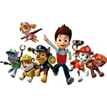 CAKEUSA Paw Patrol Characters including Half Birthday Cake Topper Edible Image 1/4 Sheet Frosting