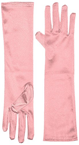 Marvoll Lycra Spandex Elbow Length Gloves (One Size, Pink)