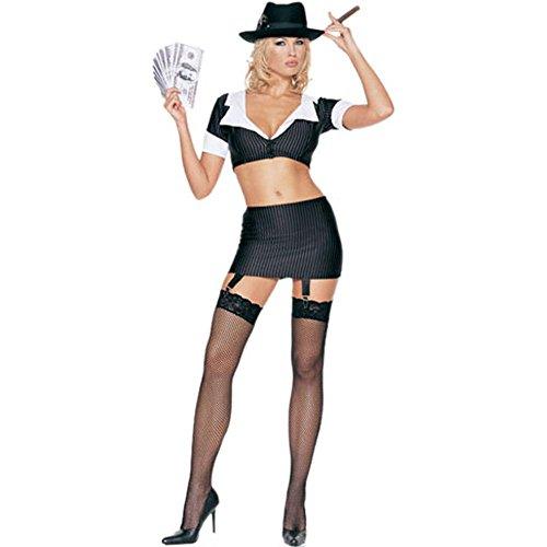 Gangster Girl Adult Costume - Medium/Large