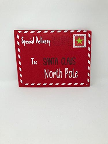 Felt Envelopes - Letters To Santa North Pole Extra Large Felt Red Envelope
