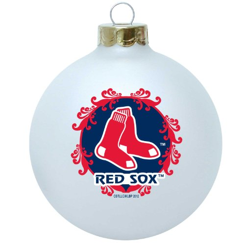 MLB Boston Red Sox Large Collectible Ornament (Red Ornament Christmas Sox)