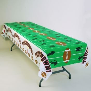 Touchdown Football Field Plastic Tablecloth 54