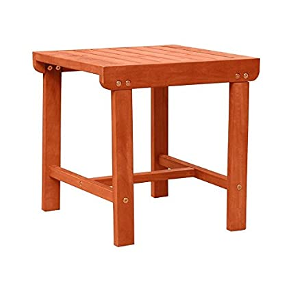 Outstanding Malibu V1802 Outdoor Patio Wood Side Table Natural Alphanode Cool Chair Designs And Ideas Alphanodeonline