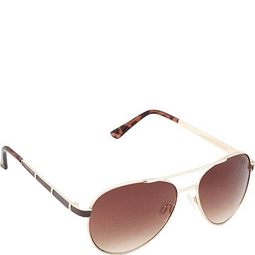 union-bay-womens-u542-gldbr-aviator-sunglasses-gold-brown-58-mm
