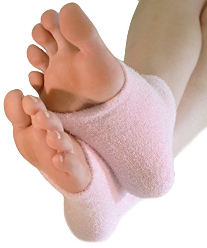 (NatraCure Pink Intensive Moisturizing Gel Heel Sleeves (Lavender Scent) - 165 RET - (For Anti-Aging and Relief from Eczema and Dry, Rough, and Cracked Heels))