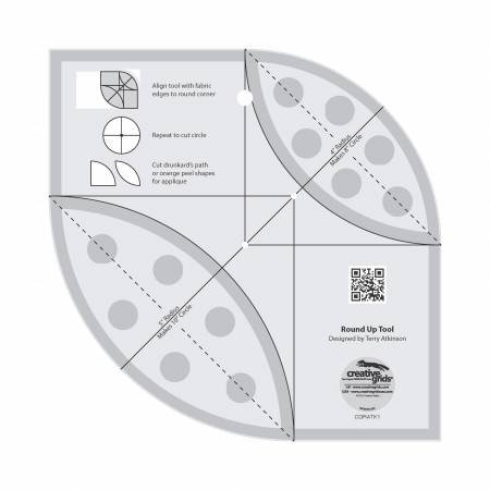 (Creative Grids Non-Slip Round Up Tool with Free Orange Peel Table Runner Sewing Pattern)