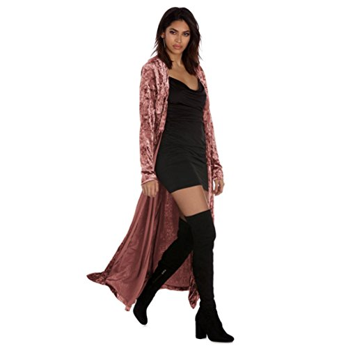- Cardigans for Womens, FORUU Long Sleeve Tops Sweaters Parka Outerwear Open Front (XL, Pink)