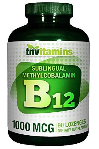 TNVitamins Sublingual Vitamin B-12 Methylcobalamin 1000 Mcg - 90 Lozenges