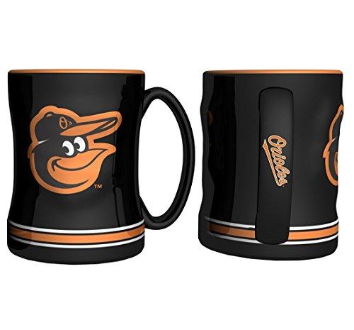 Boelter Brands Baltimore Orioles Coffee Mug - 14oz Sculpted Relief (Mug Orioles Baltimore)
