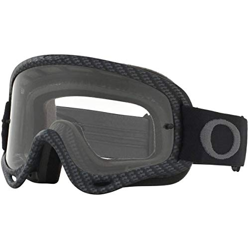 Oakley XS O Frame MX Adult Off-Road Motorcycle Goggles - Matte Carbon Fiber/Clear