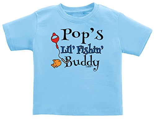Fishing Baby Clothes Pop's Lil Fishing Buddy Infant T-Shirt 12 Months Light Blue