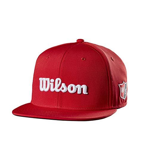 Hat Junior Fleece - Wilson Flat Brim Golf Hat Junior, Red