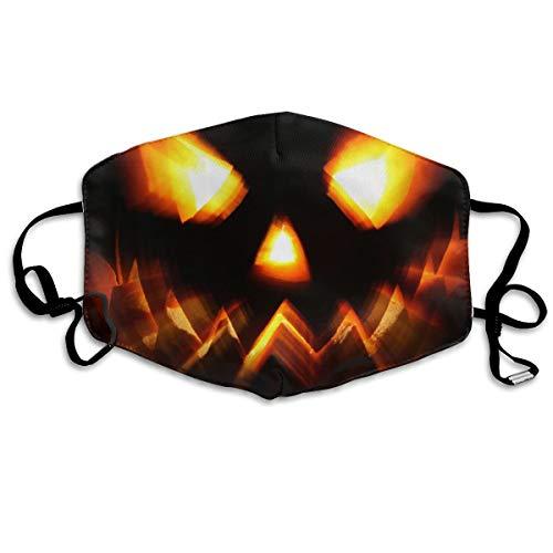 Xiaofz Halloween Pumpkin Pattern Mouth Masks Unisex Anti-Dust Flu Washable Reusable Mouth Mask Fashion Design for Girls Women Boys Men -