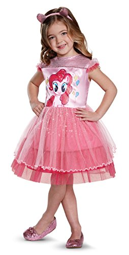 My Little Pony Pinkie Pie Costume (Pinkie Pie Movie Toddler Classic Costume, Pink, Medium (3T-4T))