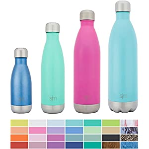 Simple Modern Stainless Steel Vacuum Insulated Double-Walled Wave Bottle, 17oz - Oasis Blue