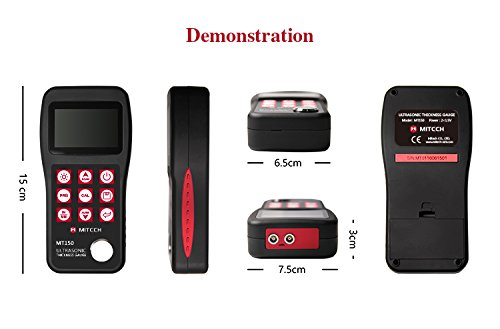 Mitech MT160 Digital Ultrasonic Thickness Gauge Meter 0.75-300mm Depends on Probes