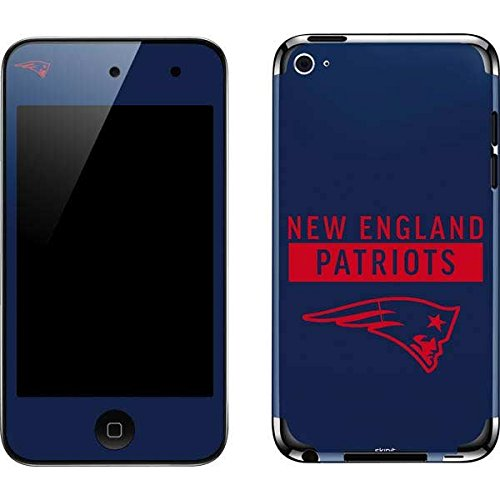 Skinit NFL New England Patriots iPod Touch (4th Gen) Skin - New England Patriots Blue Performance Series Design - Ultra Thin, Lightweight Vinyl Decal Protection