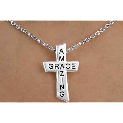 """""""Amazing Grace"""" Cross Necklace & Earring Set"""