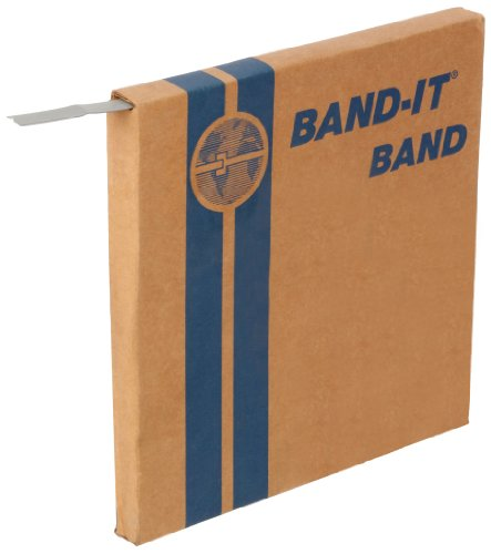"BAND-IT C20399 201 Stainless Steel Bright Annealed Finish Band, 3/8"" Width X 0.025"" Thick, 100 Feet Roll"