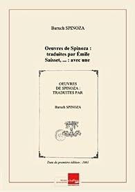 Oeuvres deSpinoza par  Spinoza