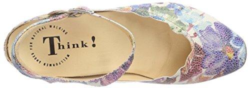 Denken! Aida Damen Slingback Pompen Mehrfarbig (bianco / Multi 95)