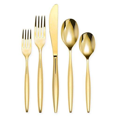Olivia & Oliver Madison 20-Piece Flatware Set in Gold
