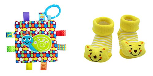 New Cute Baby Brown Bear & Little Taggie Snail Blanket Theme 2-Pack 3-12 Months w/Gift Box ()