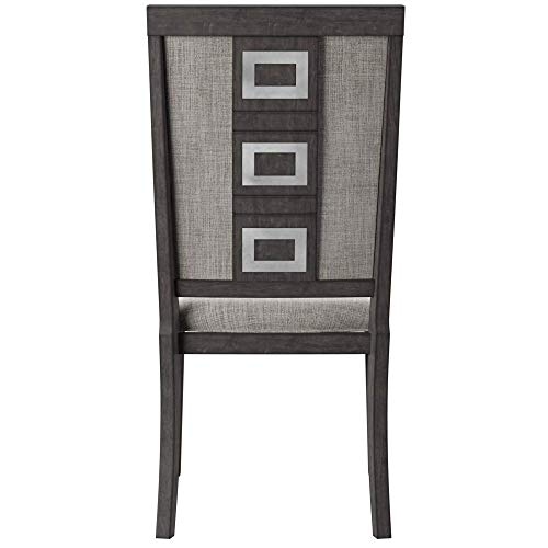 Ashley Furniture Signature Design - Chadoni Dining Side Chair - Set of 2 - Upholstered - Metal Accents - Smoky Gray Finish by Signature Design by Ashley (Image #5)