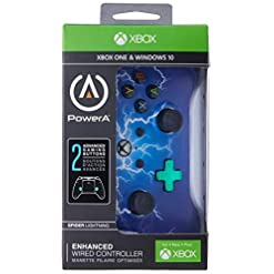 Xbox One Enhanced Wired Controller/Gamepad – Spider Lightning (Xbox One)