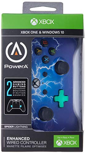 PowerA Enhanced Wired Controller for Xbox One - Spider Lightning 2
