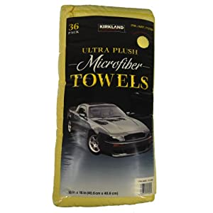 Kirkland Signature Ultra High Pile Premium Microfiber Towels (36-Pack)